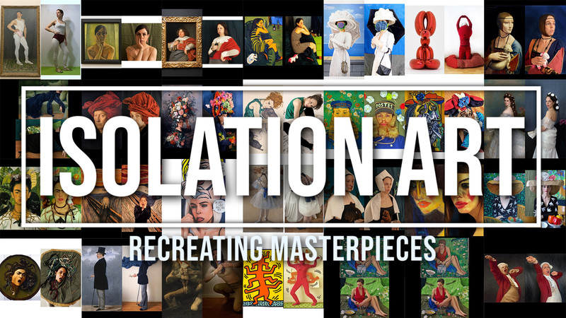 Isolation Art – Recreating Masterpieces